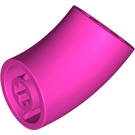 LEGO Dark Pink Round Brick with 45 Degree Elbow (65473)