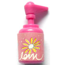 LEGO Dark Pink Scala Bathroom Accessories Hand Soap Dispenser with Flowers and 'loin' Sticker