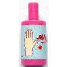 LEGO Dark Pink Scala Bathroom Accessories Shampoo Bottle with Hand Soap Sticker