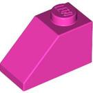 LEGO Dark Pink Slope 1 x 2 (45°) (3040)