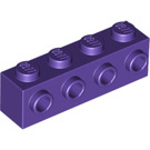 LEGO Dark Purple Brick 1 x 4 with 4 Studs on One Side (30414)