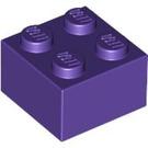 LEGO Dark Purple Brick 2 x 2 (3003)
