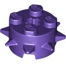 LEGO Dark Purple Design Brick 2 x 2 x 1 Circle with Spikes (27266)