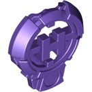 LEGO Dark Purple H Icon with Stick 3.2 (92199)