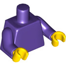 LEGO Dark Purple Plain Minifig Torso with Dark Purple Arms and Yellow Hands (76382)