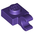 LEGO Dark Purple Plate 1 x 1 with Horizontal Clip (Thick Open 'O' Clip) (61252)