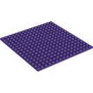 LEGO Dark Purple Plate 16 x 16 with Underside Ribs (91405)