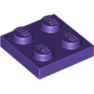 LEGO Dark Purple Plate 2 x 2 (3022)