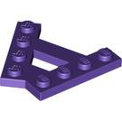 LEGO Dark Purple Plate A-Frame 45° (15706)