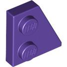 LEGO Dark Purple Right Wedge Plate 2 x 2 27° (24307)