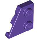 LEGO Dark Purple Wedge Plate 2 x 2 (27°) Left (24299)
