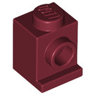 LEGO Dark Red Brick 1 x 1 with Headlight and No Slot (4070)