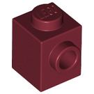 LEGO Dark Red Brick 1 x 1 with Stud on 1 Side (87087)