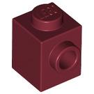 LEGO Dark Red Brick 1 x 1 with Stud on One Side (87087)