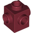 LEGO Dark Red Brick 1 x 1 with Studs on Four Sides (4733)