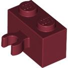 LEGO Dark Red Brick 1 x 2 with Vertical Clip (Open 'O' clip) (95820)