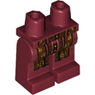 LEGO Dark Red Hips and Legs with Reddish Brown Long Scarf Ends with Gold and Dark Brown Trim Pattern (39774)