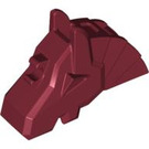 LEGO Dark Red Horse Battle Helmet (Angular) (48492)