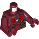 LEGO Dark Red Iron Man Minifig Torso (76382)