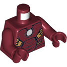 LEGO Dark Red Iron Man with Circle on Chest Torso (76382)