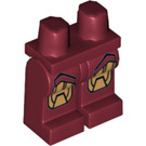LEGO Dark Red Iron Man with Triangle on Chest Legs (10574)