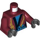 LEGO Dark Red Nya - Legacy Minifig Torso (76382)