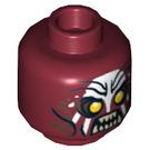 LEGO Dark Red Plain Head with Decoration (Safety Stud) (10756)
