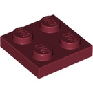 LEGO Dark Red Plate 2 x 2 (3022)