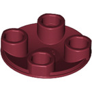LEGO Dark Red Plate 2 x 2 Round with Rounded Bottom (2654)