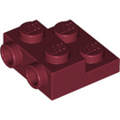 LEGO Dark Red Plate 2 x 2 x 2/3 with 2 Studs on Side (99206)