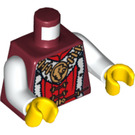 LEGO Royalty Torso with Gold Lion Pendant and Fur Trim (76382)