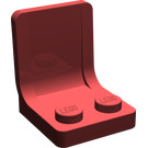 LEGO Dark Red Seat 2 x 2 without Sprue Mark in Seat