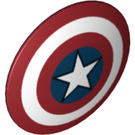 LEGO Shield with Captain America Pattern (10532 / 17459 / 75902)