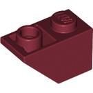 LEGO Dark Red Slope 1 x 2 (45°) Inverted (3665)