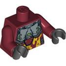 LEGO Dark Red Takeshi Torso (76382)