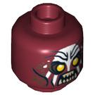 LEGO Dark Red Uruk-Hai Head (Safety Stud) (10756)