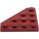 LEGO Dark Red Wedge Plate 4 x 4 (45°) (30503)