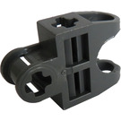 LEGO Dark Stone Gray Ball Connector with Perpendicular Axleholes and Vents and Side Slots (32174)