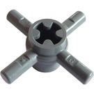 LEGO Dark Stone Gray Bar 1L Quadruple with Axlehole Hub (48723)