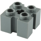LEGO Dark Stone Gray Brick 2 x 2 with Slots and Axlehole (39683 / 90258)
