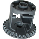 LEGO Dark Stone Gray Differential Gear Casing with Bevel Gear on End with Open Center (62821)