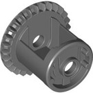 LEGO Dark Stone Gray Differential with One Gear 28 Tooth Bevel with Closed Center (62821)