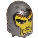 LEGO Dark Stone Gray Large Figure Head Sir Adric (54474)