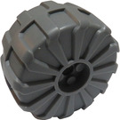 LEGO Dark Stone Gray Large Hard Plastic Wheel (2515)