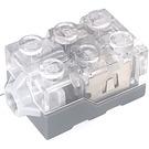 LEGO Dark Stone Gray Light Brick with Transparent Top and Orange LED Light (38625 / 62930)