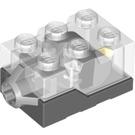LEGO Light Brick with Transparent Top and Orange LED Light (38625 / 62930 / 98785)