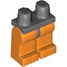 LEGO Dark Stone Gray Minifigure Hips with Orange Legs (73200)