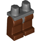 LEGO Minifigure Hips with Reddish Brown Legs (17801 / 73200 / 88584)