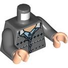 LEGO Dark Stone Gray Neville Longbottom Torso (76382)