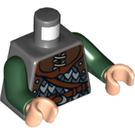 LEGO Dark Stone Gray Rohan Soldier Torso (76382)
